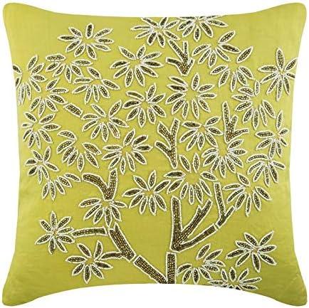 Diseñador Verde fundas de cojines, 45x45 cm fundas cojines, Sabana de algodon fundas cojines, los granos brillantes Resplandecer fundas para almohadones, floral fundas para almohadas - Deco Tree: Amazon.es: Hogar