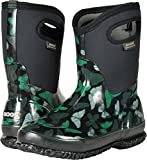 Bogs Women's Classic Butterflies Mid Snow Boot, Black/Multi, 11 M US