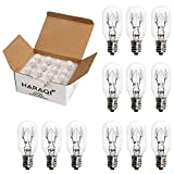 12 Pack Salt Lamp Bulbs,Incandescent Bulbs,Replacement Light Bulbs for Himalayan Salt Lamps,Salt Night Lights 25Watt E12 Socket