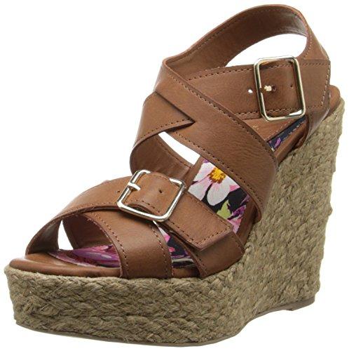 887865340119 - Madden Girl Women's Stackful Wedge Sandal, Cognac Paris, 7 M US carousel main 0