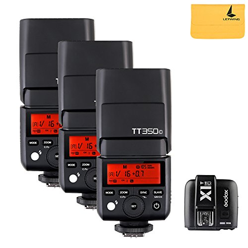 Godox TT350C 3X Mini Flash TTL HSS 1/8000s 2.4G wireless with X1T-C Flash Trigger Transmitter 2.4G Wireless Remote Transmitter for Canon Mirrorless Camera …
