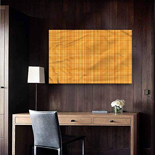Gabriesl Wall Mural Wallpaper Stickers Orange Striped Abstract Texture Warm and Romantic Size : W36 x -