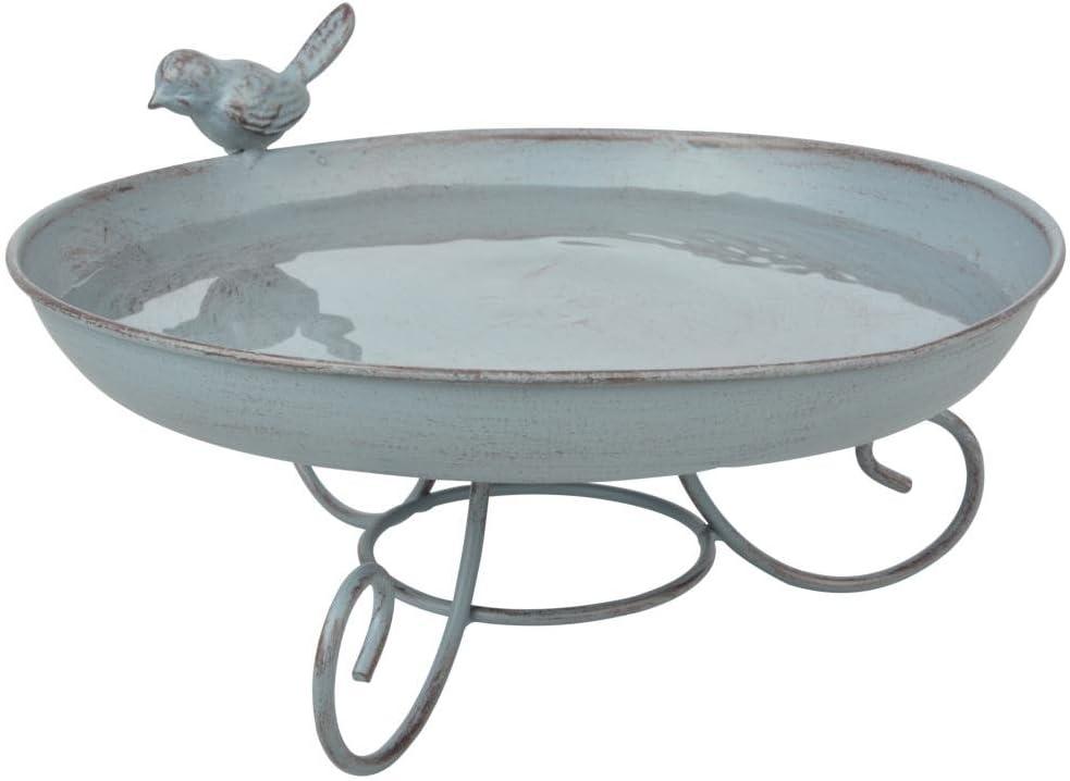 Esschert Design FB401 Series Standing Bird Bath, White
