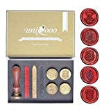 UNIQOOO Hogwarts School Ministry of Magic & 4 Houses Wax Seal Stamp Kit Collection of 5 Stamps Gift Idea
