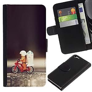 KLONGSHOP // Tirón de la caja Cartera de cuero con ranuras para tarjetas - Juguete divertido de bicicletas - Apple Iphone 6 //