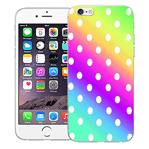 """Mobile Case Mate iPhone 6 Plus 5.5"""" Silicone Coque couverture case cover Pare-chocs + STYLET - Multi Colour Polka pattern (SILICON)"""