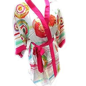 """Diseñador kimono """"Desigual""""multicolor blanco."""