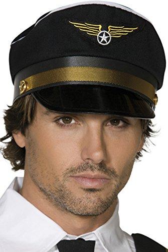 Pilot Black Cap Costume - Store Pilot Usa