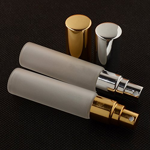 Enslz 10ml Frosted Glass Spray Perfume Bottles 6Pcs Travel Small Empty Atomizer Bottle Fragrance Fine Mist Christmas Day Gift Free 2pcs Pipette by Enslz (Image #2)