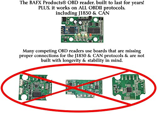 BAFX Products Bluetooth OBD2 / OBDII Diagnostic Car Scanner Reader Tool for Android by BAFX Products (Image #2)