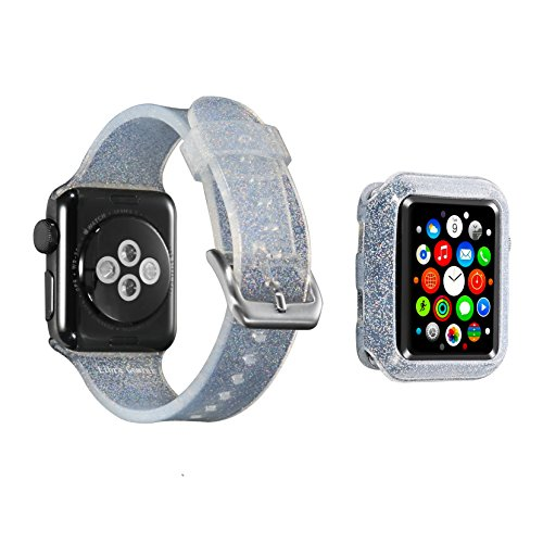Libra Gemini Replacement Silicone Apple Watch Case 42mm and Apple Watch Band 42mmfor Apple Watch 42mm Series 3/2/1