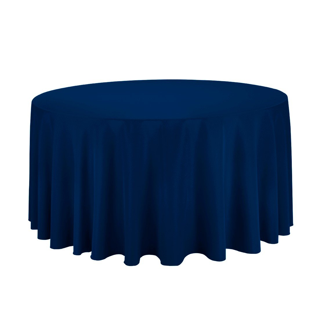 Craft & Party Polyester Table Cloth 120'' Round (Navy Blue)
