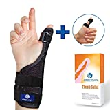 Arrow Splints Thumb Brace & Wrist Brace + Thumb Splint for Trigger Thumb, Carpal Tunnel, Arthritis, Tendonitis, and CMC The Reversible Thumb Spica Splint can be Used on Right and Left Hand