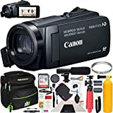 Canon VIXIA HF W10 Camcorder Full HD 1080p Waterproof Shockproof Dust and Freezeproof Video Camera Bundle with Deco Gear Photography Case Cleaning Kit Tripod UV Filter & Microphone Deluxe Bundle