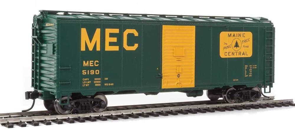 40 ' AAR Modified 1937 Boxcar – を実行する準備 – - Maine Central 5190 (グリーン、イエロー、ラージMEC &パインツリールートのロゴ) B077LDNY23