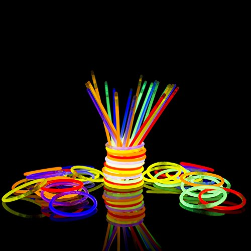 Cheapest Glow Sticks (Fun Central 100 Pack - 8 Inch Glow Stick Bracelets Bulk Party Favors -)