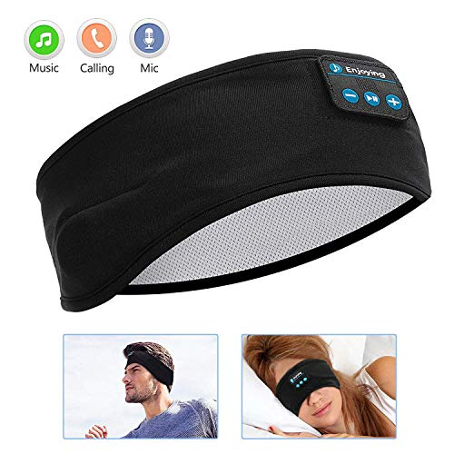Sleep Headphones Bluetooth, Voerou Wireless Headband Headphones Sports Sweatband with Ultra-Thin HD Stereo Speakers for Sleeping,Workout,Jogging,Yoga,Insomnia, Travel, Meditation (Best Bluetooth Earbuds For Sleeping)