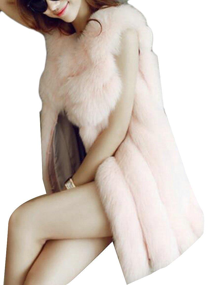 FLCH+YIGE Womens Fashion Long Sleeve Faux Shearling Shaggy Jacket