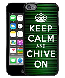 Newest iPod Touch 6 Case ,Popular And Beautiful Designed Case With Keep Calm and Chive on black iPod Touch 6 Screen Cover High Quality Phone Case