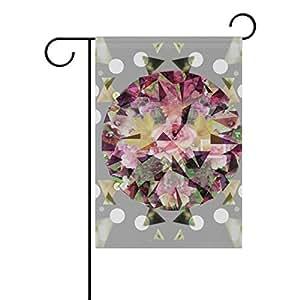 bennigiry planta flores poliéster banderines de jardín 12X 18inch, bandera de Jardín de temporada para al aire libre bandera decoración para boda, Multicolor, 12x18(in)