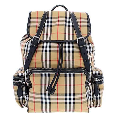 - Burberry Mens Vintage Check Rucksack Backpack Tan O/S