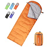Emonia Camping Sleeping Bag,Three Season.Waterproof Outdoor Hiking Backpacking Sleeping Bag Perfect for Traveling,Lightweight Portable Envelope Sleeping Bags for Adults,Girls and Boys