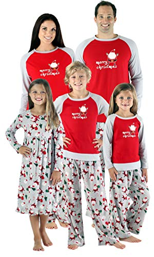 SleepytimePjs Christmas Family Matching Fleece Santa Pajama PJ Sets-Kids - Nightgown (STMF-4036-G-2T)