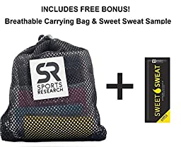 Sweet Sweat Mini-Loop Bands with 4 levels of resistance - Includes Carrying bag, Workout guide and Sweet Sweat Gel Sample!