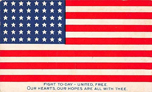 United States Flag Patriotic Greetings Vintage Postcard JF685096