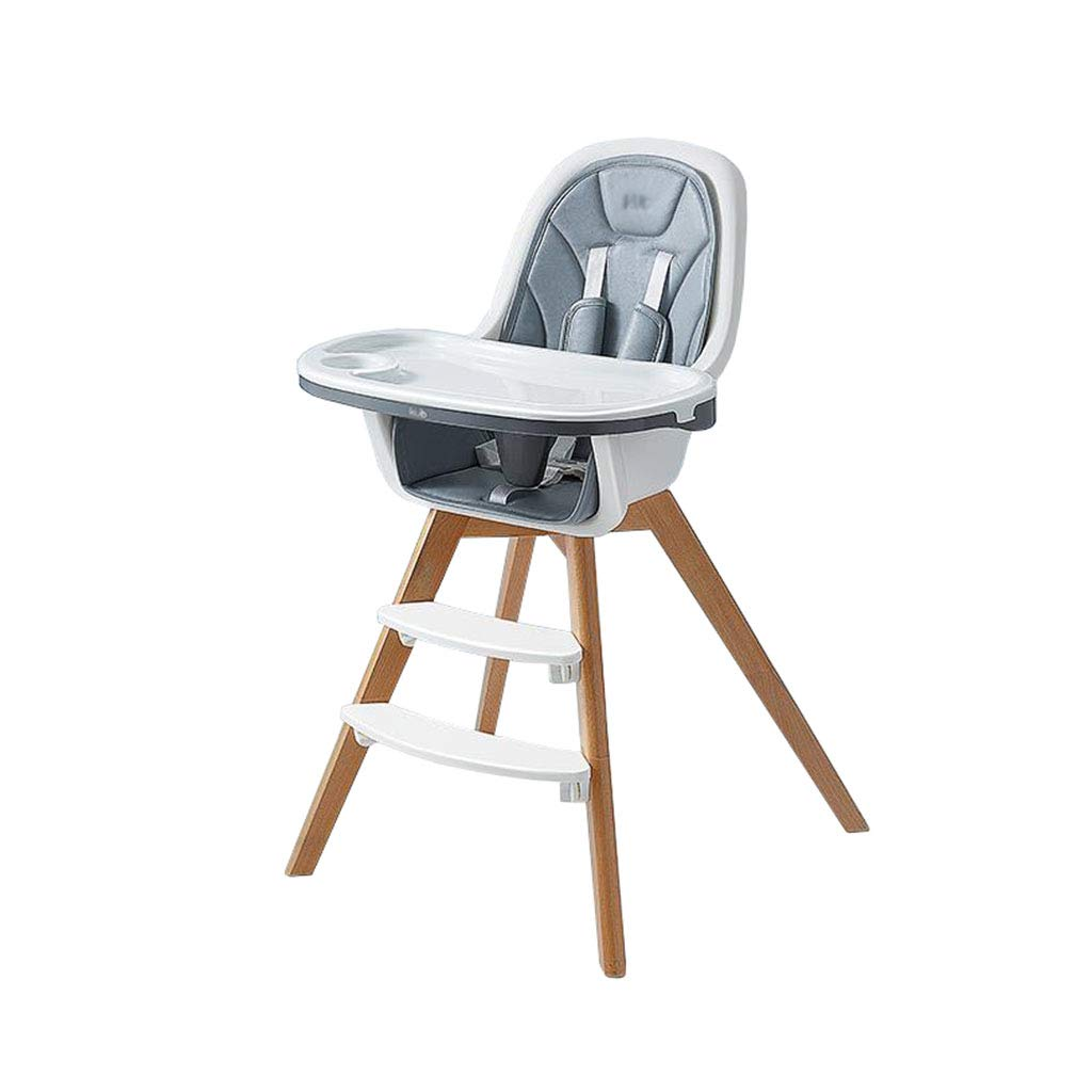 赤ん坊のハイチェアの木の調節可能で取り外し可能な食糧皿の供給の座席の椅子   B07MPQ5PK1