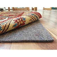 100% Felt Rug Pad - SAFE for all floors - Extra Thick - 10 x 14 - Add Cushion, Comfort and Protection