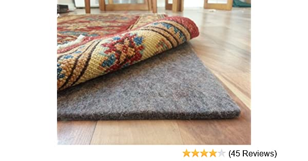 Amazon.com: 100% Felt Rug Pad   SAFE For All Floors   Extra Thick   5u0027 X 7u0027    Add Cushion, Comfort And Protection: Kitchen U0026 Dining