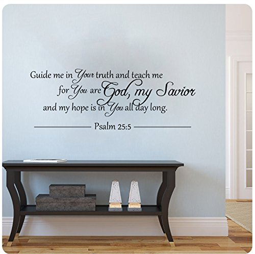 Cheap  Guide Me In Your Truth and Teach Me...Psalm 25:5 bible verse religious..