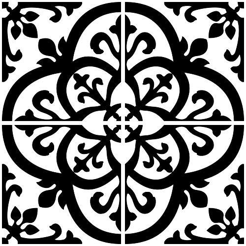 InHome NH2956 Avignon Peel & Stick Backsplash Tiles Black ()