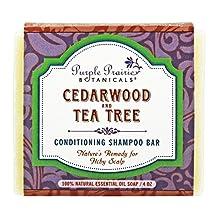 Purple Prairie Botanicals - Conditioning Shampoo Bar Soap Cedarwood and Tea Tree - 4 oz.