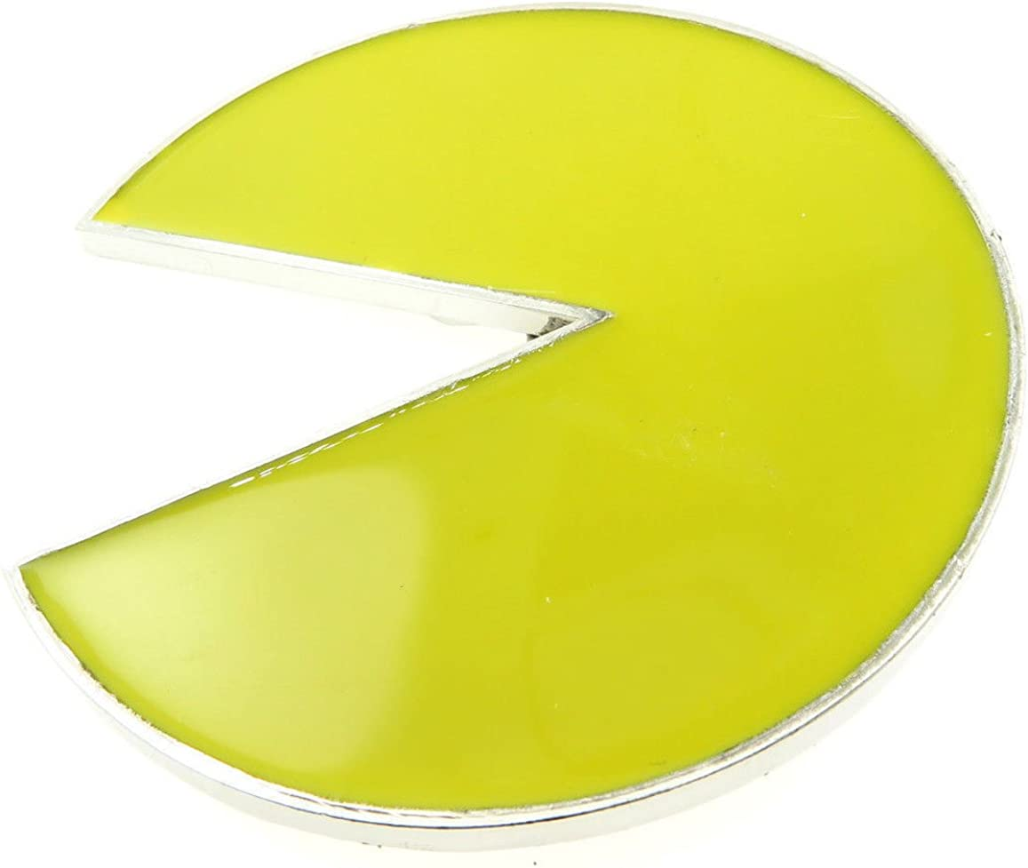 Pac-Man Belt Buckle with Chrome One Size, Yellow