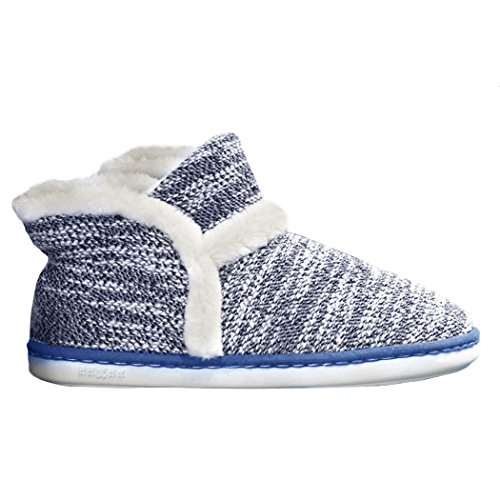 Zapatillas Antideslizante Azul para Mae Invierno Oscuro Unisexo Pelusa casa Summer Corta qBgX5w