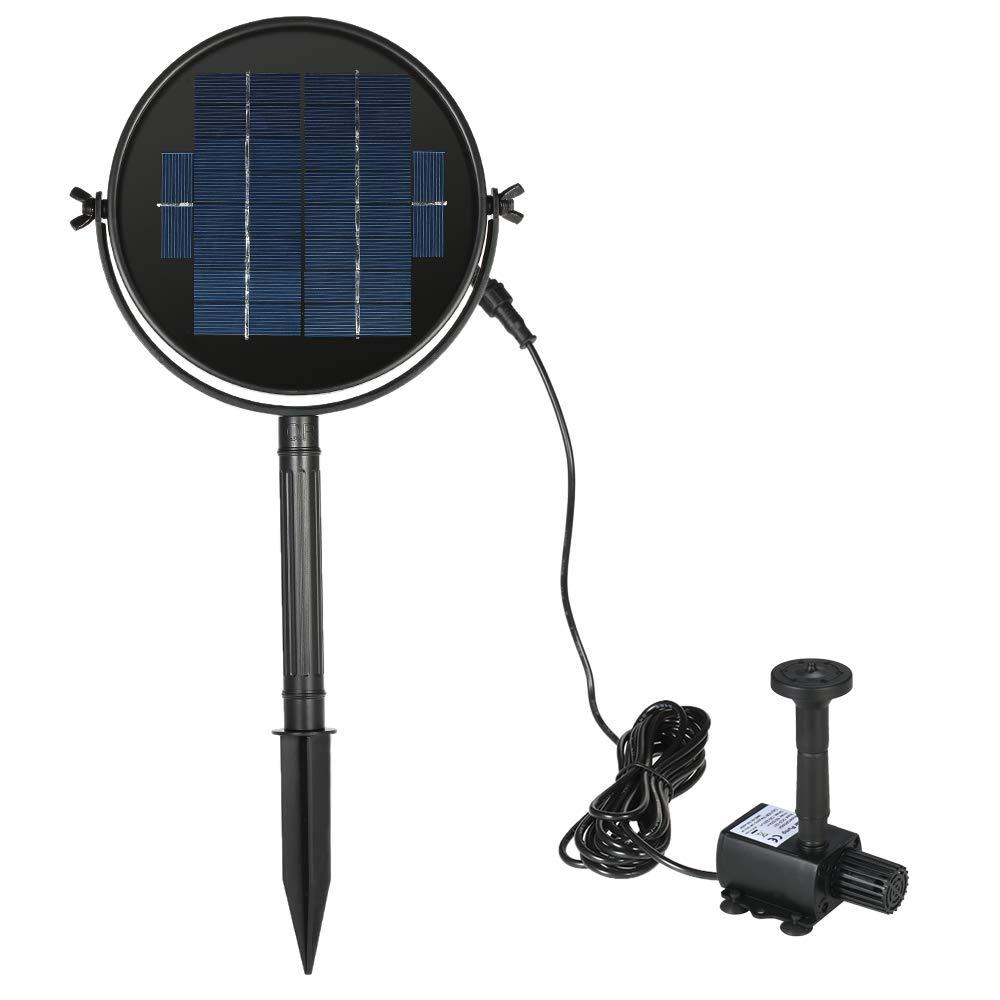 Anself - Bomba Sumergible con Panel Solar Giratorio para Agua Jardín Piscina Fuente, Elevación 190L