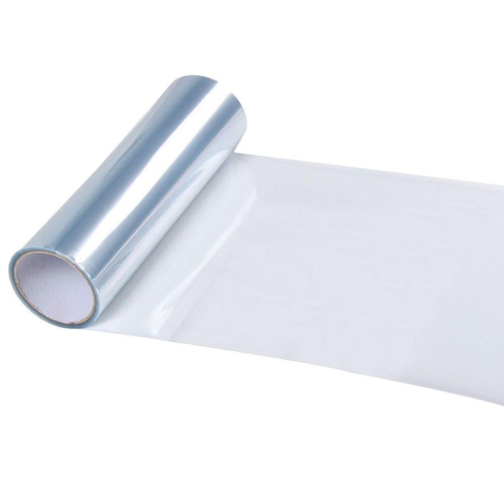 KKmoon Pellicola per fari auto, Impermeabile Pellicola Protettiva in PVC per fari anteriori e fari posteriori, Adesivo per auto, Trasparente