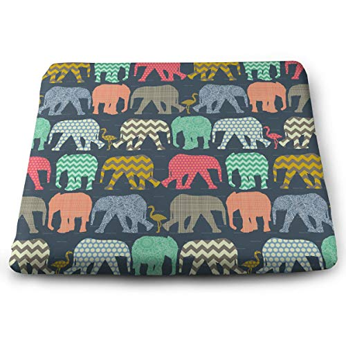 Comfortable Seat Cushion Chair Pad Elephant Flamingo Art Perfect Memory Foam Cushions Lighten The Bumps -