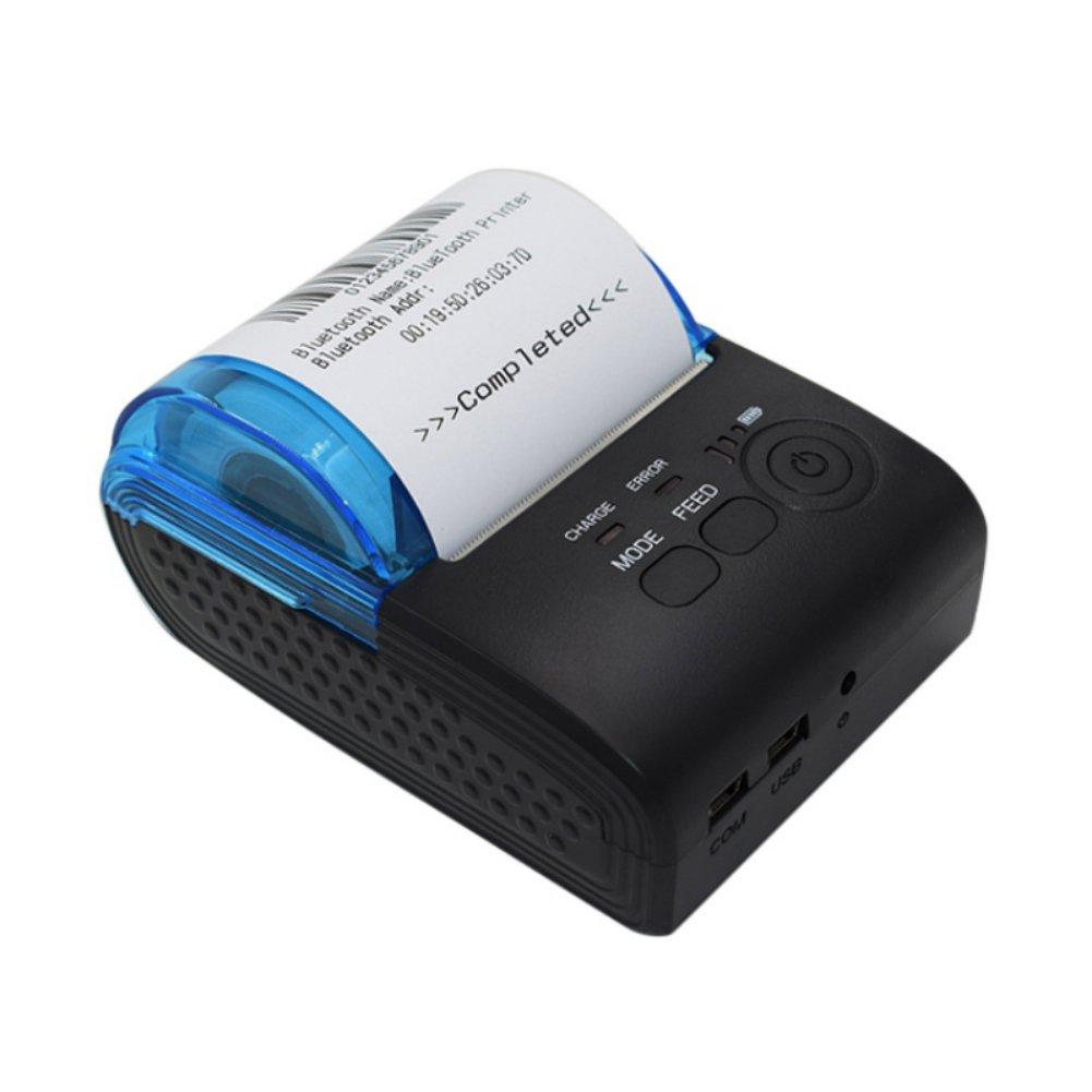 Stampante per ricevute, Tracffy Mini stampante per biglietti wireless Bluetooth portatile, 58mm Bluetooth e stampante termica per codici a barre POS USB, 90mm / s