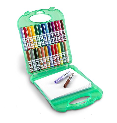 Travel Game Set - Crayola Pip-Squeaks Washable Markers & Paper Set, Kids Travel Activities, Ages 4, 5, 6, 7,