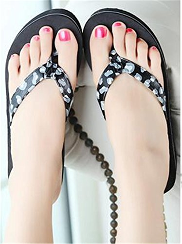 Leopard Belt Black Leopard Bottom Women's Colours Flip Anti Beautiful Boowhol Various Flops Thick amp; Slippers Sandals Styles skid Fashion wTgCnUq