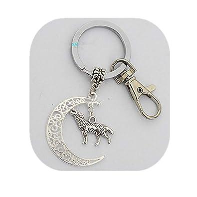 Cresent Moon Llavero, diseño de lobo, lobo, lobo Encanto ...