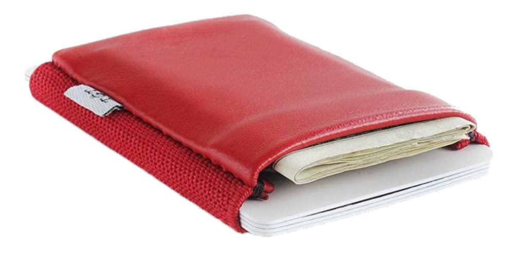 TGT Wallets Mens 2.0 Card Holder Wallet Cherry Red