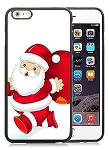 2014 Latest iPhone 6 Plus Case,Santa Claus Black iPhone 6 Plus 5.5 TPU Case 22 hjbrhga1544