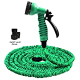 BUTTERFLY LOVE 100 ft Expandable Garden Hose, Very Lightweight Flexible Hose With 7 Function Spray Nozzle, Thick Latex Core and Strong Fabric, Upgraded Expanding Gardening Hose