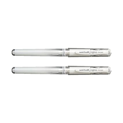 Uni Ball Signo Broad Point Gel Impact Pen White (2 Pens) by Sanford