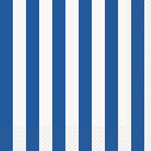 Royal Blue Striped Paper Napkins, 16ct for $<!--$3.40-->