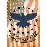 Toland Home Garden Gettysburg Eagle Decorative Garden Flag 12.5 by 18